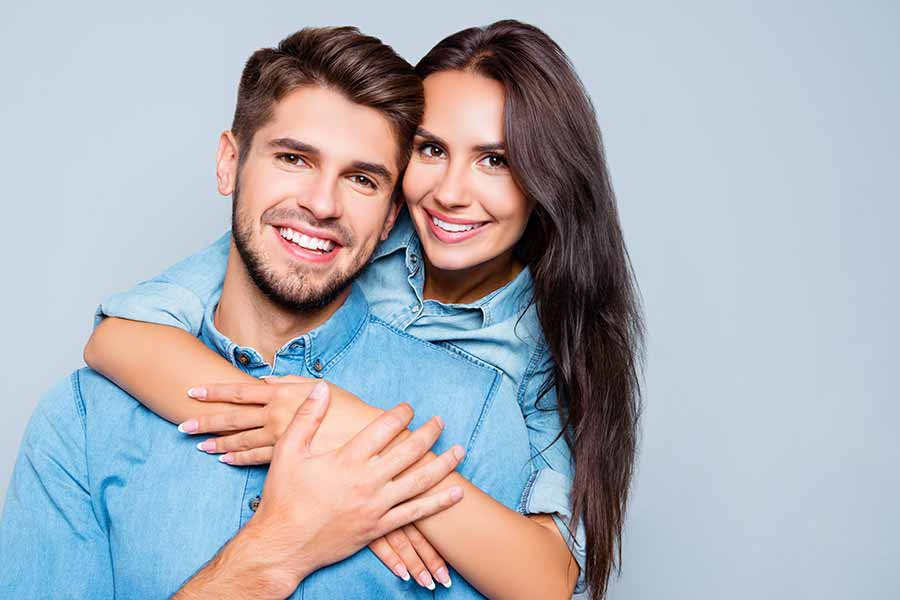 Younger couple with nice teeth
