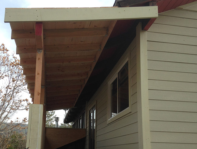 porch roof construction Mother Lode Builders in Jackson, CA